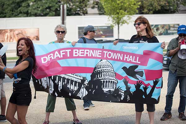 Draft Bernie Banner